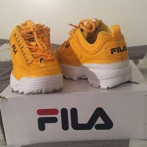Fila Shoes   Mustard Yellow Filas